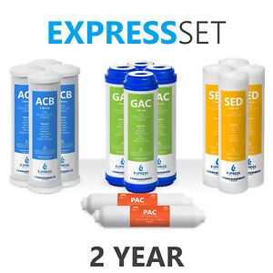 2 Year Reverse Osmosis System Replacement Filter Set – 14 Filters – No Membrane