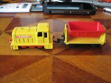 TRAIN + REMORQUE MATCHBOX SUPERFAST N°24 SHUNTER + FLAT CAR 1977-78 LESNEY