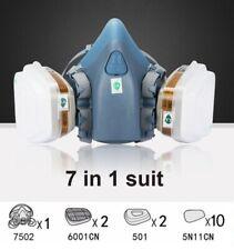 New Listingus Half Face Gas Mask Painting Spraying Respirator Facepiece Reusable Respirator