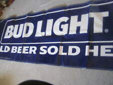 New Large Budweiser Bud Light Banner Sign Cold Beer Sold Here Pennants