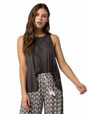 $139 O'Neill Juniors Women'S Gray Crochet-Trim Sleeveless Knit Tank Top Size Xl