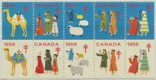Canada Christmas Seal 1959 Block of 10 MNH Charity Cinderella (1)