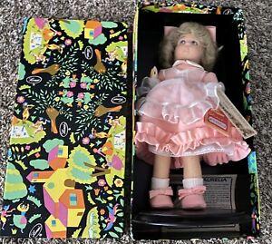 "Lenci Felt Doll ""Aurelia"" 13"" Vintage 1983 Pink Dress W/ Goose Original Box NWT"