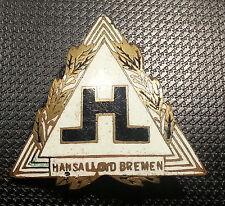 Hansa LLOYD Bremen Brosche emailliert 31x30mm ORIGINAL alt+original