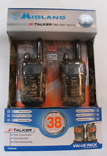New Midland X-Talker 2-Way Radio w/ 38-Mile Range & Weather Alert Camo T75VP3