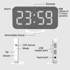 LED Digital Alarm Clock with Large Easy-Read LED Display Diming Mode Snooze