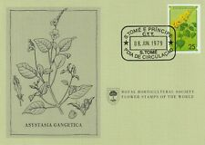 Flower Stamps of The World 1979 FDC card St Thomas and Principe