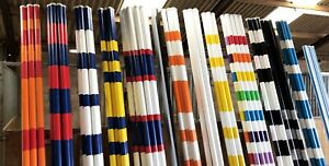 Show Jump Poles Painted Two Colours – 3m – FEI Standard – For Competition Use