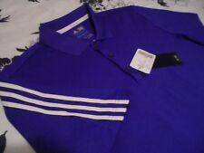 NWT Mens - ADIDAS - CLIMACOOL Polo Golf Shirt Purple White Stripe M Medium NEW