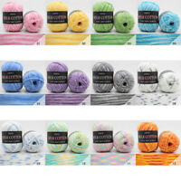 1Pcs 3 Ply 50g DIY Assorted Color Hand-woven Crochet Knitting Yarn Skeins