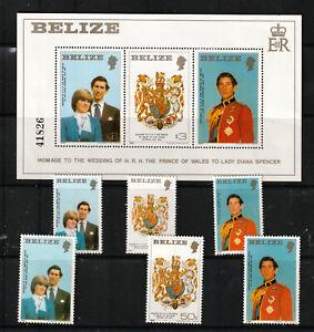 BELIZE 1981 2 SETS, 6 VALUES PLUS M.S.   M.N.H.