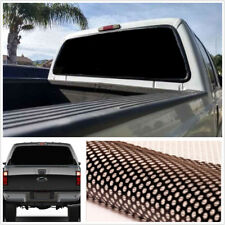 "22""x 65"" Large Black Truck Van Rear Window Perforated Decal Tint Graphic Sticker"
