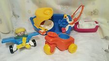 Vintage Fisher Price Little People Lot. boat ,tug boat, plane,truck person