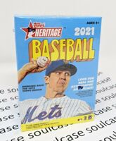 New 2021 MLB Topps Heritage Blaster Box Baseball 8 Packs 72 Cards Total SEALED