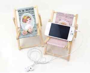 US Vintage Girl Doll Miniature Chair Smart Phone iPhone Stand Holder Kawaii Cute