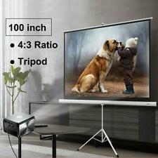 Portable 100 43 Hd Projection Projector Screen Pull Up With Tripod Stand