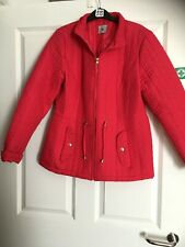 Bright red quilted / padded jacket