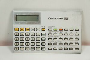 Canon Card F-63 Scientific Statistical Calculator Rare