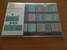 1971 DECIMAL DEFINITIVE 1/2p to 10p  PRESENTATION PACK (No37) IN MINT CONDITION