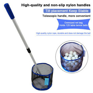 Telescopic Ball Pick Up Nets Golf Table Tennis Hand Foldable Picker Collector