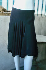 BALANCIAGA 100% Silk Black Skirt Fit & Flare ~ F-40, USA-6