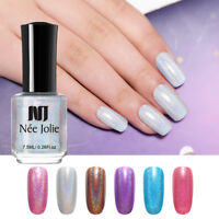 NEE JOLIE 7.5ml Holographic Nail Polish Glitter Shimmer Laser Nail Art Varnish