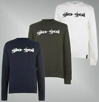 Mens Gio Goi Crew Neck Long Sleeves Cotton Print Sweater Sizes from S to XXL
