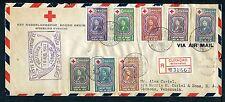 Curacao Voorloper FDC VLp04 _ 5 M, met adres ; censuur, aangetekend