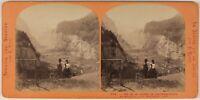 Suisse Vallée Lauterbrunnen Foto Lamy Stereo L53S1n35 Vintage Albumina c1865