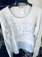 Dior Vintage 90s Logo Print Cotton Top Cami Shirt Blouse Size S M Netaporter
