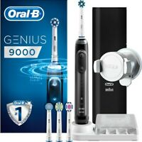 Braun Oral-B Genius Pro 9000 Blac Electric Toothbrush +3 Heads and Travel Case