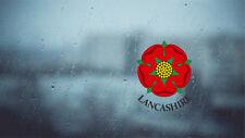 Lancashire Red Rose Internal revese printed Car Window Sticker Decal 70mm
