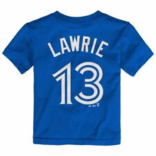 MLB Majestic Name & Number Player Jersey Infant Toddler Youth T-shirt Collection Toronto Blue Jays Brett Lawrie 2 Toddler 4t