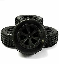 BS213-033/BS709-002 1/10 RC Nitro Buggy Off Road Wheels and Tyres x 4 Black