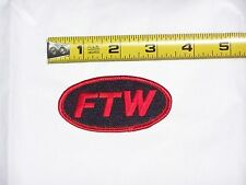 FTW 1% Outlaw Biker Motorcycle jacket vest hat F T W Embroidered Red Black Patch