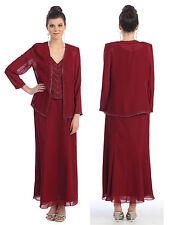 Mother Of Bride Church Modest Jacket Evening Plus Size Dress