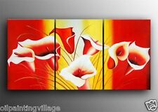 """Framed Modern abstract oil painting on canvas Tulips 72x36""""H  Last 1"""