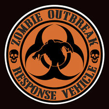 ZOMBIE OUTBREAK RESPONSE VEHICLE sticker / decal 85mm wide