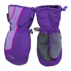 Head Ski Snow Winter Mittens for Girls - Sorona Insulation - Purple/Pink