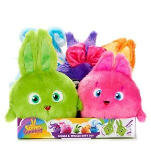 Sunny Bunnies Giggle and Wiggle Soft Toys Collect All 5!