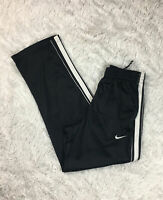 Nike Basketball Men's Soft Polyester Zip Ankle Warm Up Pants Black White Size S