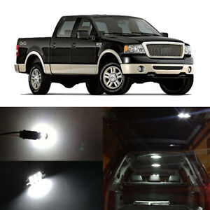 13x White LED Interior Bulbs Package License Plate Light for 2004-2008 Ford F150