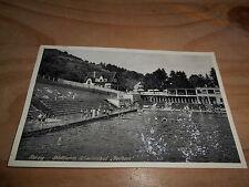 Merzig Städtisches Schwimmbad Heilborn ca. 50er Jahre Personen
