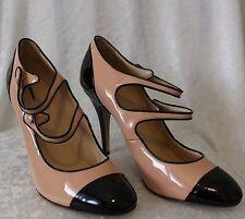 JCrew Mona Two-Tone Mary Jane Heel Pink/Black Patent Leather Pumps 11 $250 13822