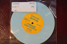 Rare David Bowie Press Conference London 23.1.90 Blue Vinyl 7in SOUND7