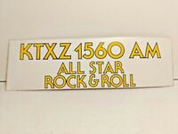 Vintage KTXZ 1560 AM ALl Star Rock & Roll Texas Radio Bumper Sticker Decal