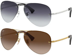 Ray-Ban Semi-Rimless Aviator w/ Gradient Lens - RB3449 - Made In Italy