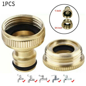 """Durable Brass Hose Tap Connector  3/4"""" 1/2""""   Threaded Garden Water Pipe Adapter"""