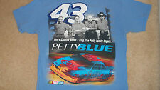 Official PETTY BLUE #43 T-Shirt - Family Photo Richard Lee Kyle Adam NASCAR Med