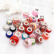 30x Multicolor Lampwork Beads Supplies Murano for Bracelet Crafting Kits